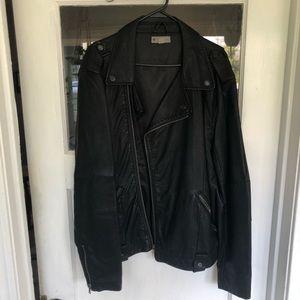 Men's vintage faux leather jacket